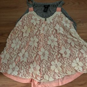 Rue 21 tank top lace front